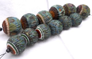 South Dakota Trade Beads - Marble beads