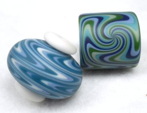 Oregon Trade Beads - Tube and squat beads